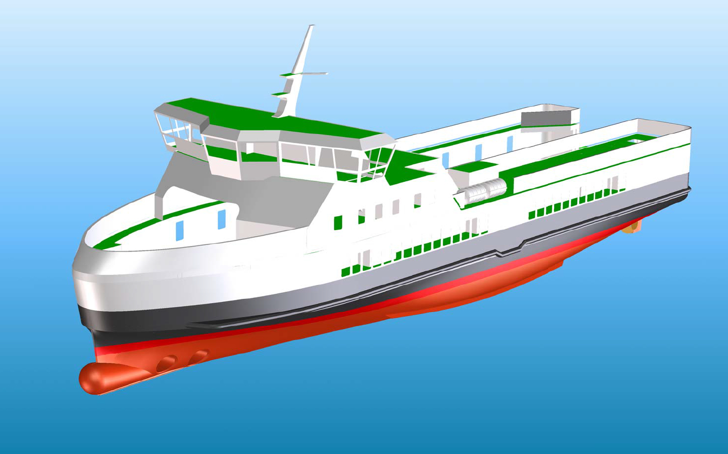 E-ferry with batteries